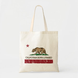 California Born and Raised Distressed Canvas Bags