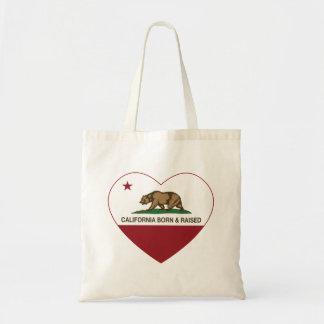 California Born and Raised Heart Canvas Bag