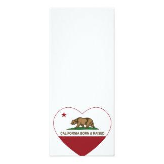 California Born and Raised Heart Invitation