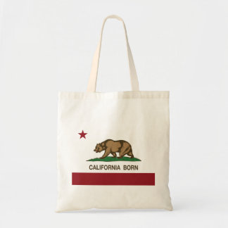 California Born Bear Flag Budget Tote Bag