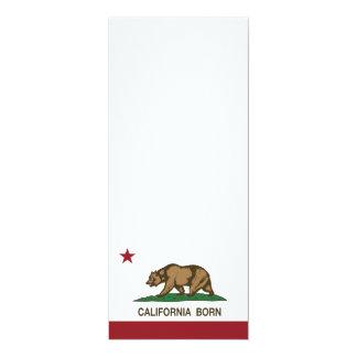 California Born Bear Flag Personalized Invitations