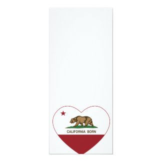 California Born Heart Custom Announcement