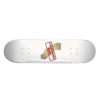 California Born - Stamp on Map Skateboard Deck