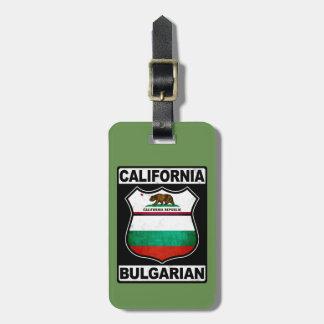 California Bulgarian American Luggage Tag Template