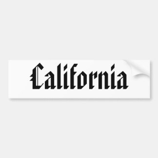 California Bumper Sticker