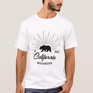 California business mens white t shirt