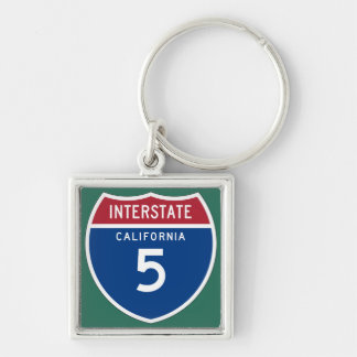 California CA I-5 Interstate Highway Shield - Key Ring