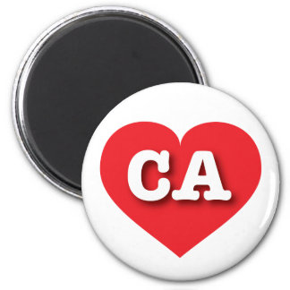 California CA red heart Magnet