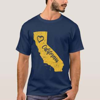 California CA State Love Distressed Vintage tshirt