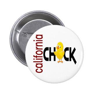 California Chick 1 Pinback Button
