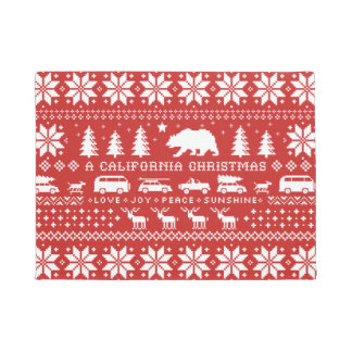 California Christmas | Love Joy Peace Sunshine Doormat