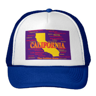 California Cities And Towns State Pride Map Cap