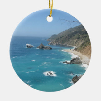 California Coast Ceramic Ornament