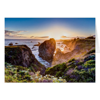 California Coast Sunset Greeting Card