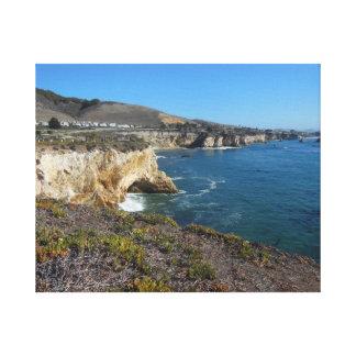 California Coastal Cave Stretched Canvas Print