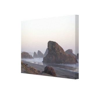 California Coastal Sunset Gallery Wrapped Canvas
