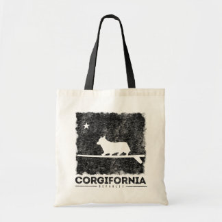California Corgifornia Cute Corgi Surfing Tote Bag