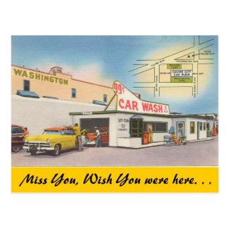 California, Culver City Car Wash Postcard