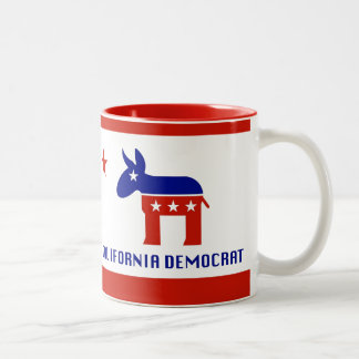 California Democrat Gifts Two-Tone Coffee Mug