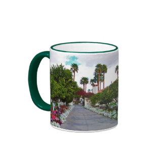 California Desert Resort Ringer Mug