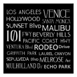 California Destinations Poster