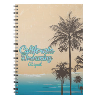 California Dreaming, Beach  Style Journal Spiral Notebooks