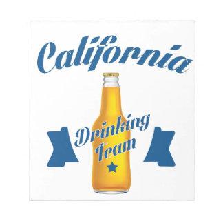 California Drinking team Notepad