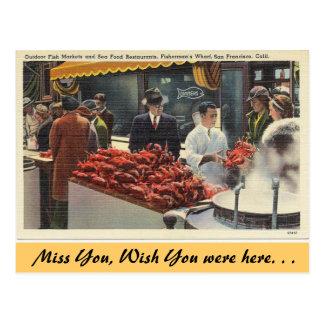 California, Fishermans's Wharf Postcard
