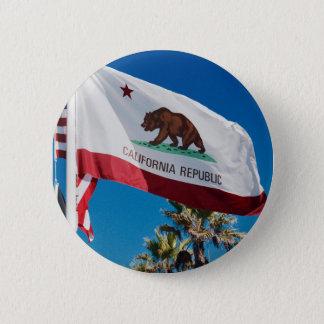 California Flag 6 Cm Round Badge