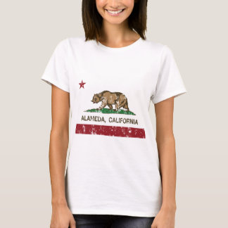 california flag alameda distressed T-Shirt
