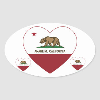 california flag anaheim heart oval sticker