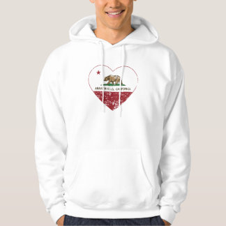 california flag anaheim hills heart distressed hoodie