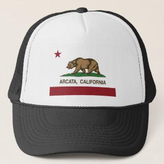 california flag arcata trucker hat