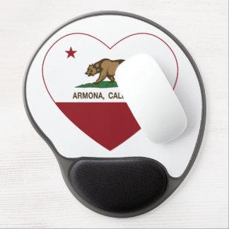 california flag armona heart gel mouse pad