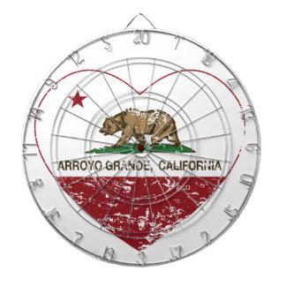 california flag arroyo grande heart distressed dart boards