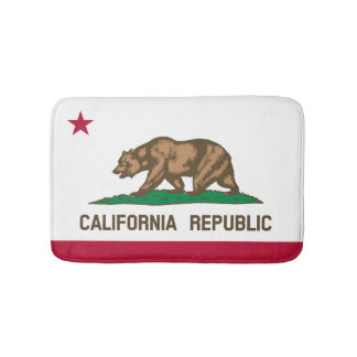 California flag bath mat | bear bathroom rug