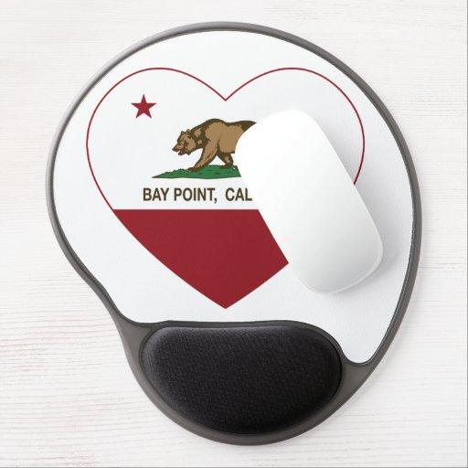 california flag bay point heart gel mousepads