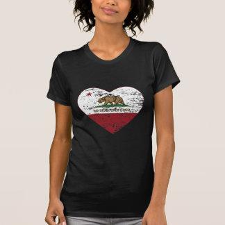 california flag bayside heart distressed t-shirts