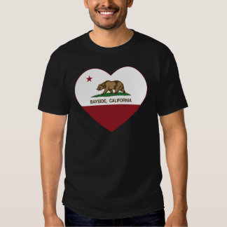 california flag bayside heart shirt