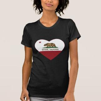 california flag bayside heart t shirt