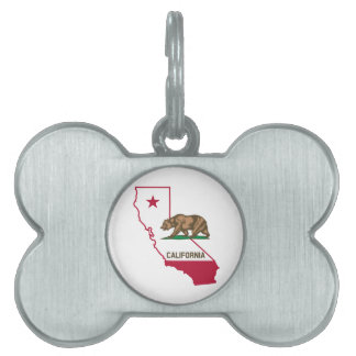 California Flag Bear Pet ID Tag
