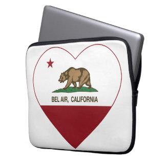 california flag bel air heart laptop sleeve
