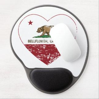 california flag bellflower heart distressed gel mouse pad
