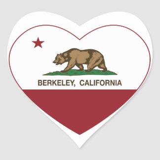 california flag berkeley heart heart sticker