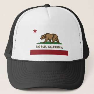 california flag big sur trucker hat