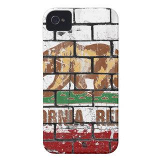 California Flag Brick Wall Grunge iPhone 4 Case