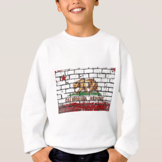 California Flag Brick Wall Grunge Sweatshirt