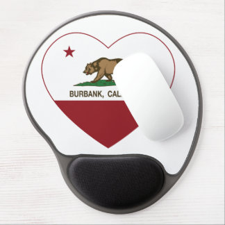 california flag burbank heart gel mouse mat