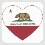 california flag camarillo heart square sticker