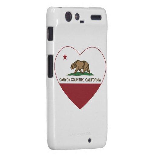 california flag canyon country heart droid RAZR cases